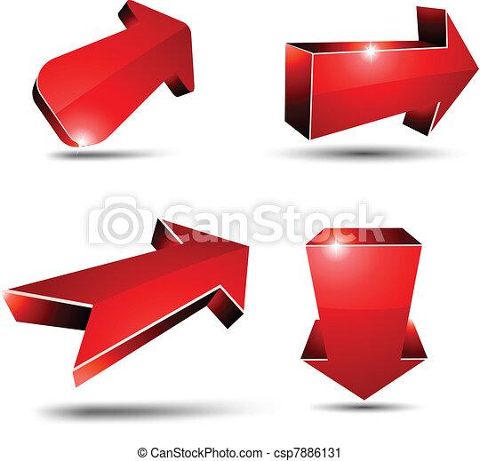 3d arrows. - csp7886131