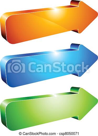 3d arrows. - csp8050071