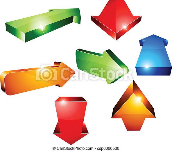 3d arrows. - csp8008580
