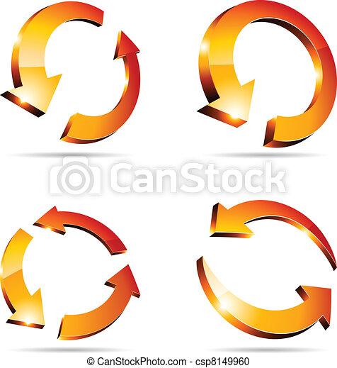 3d arrows. - csp8149960
