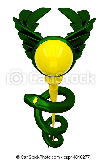 3d Asclepius Medical Symbol Stock Illustrations Search Eps Clipart
