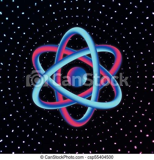 3d atom structure vector illustration 3d atom science on dark 3d atom structure vector illustration ccuart Images
