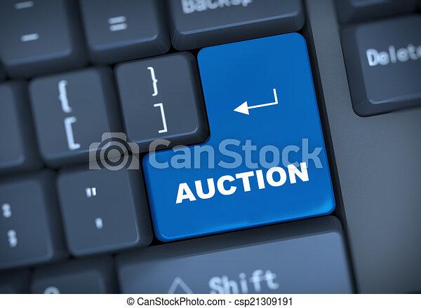 3d auction keyboard concept - csp21309191