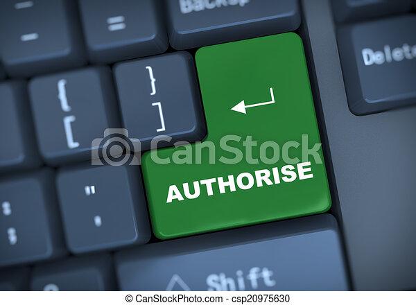 3d authorise keyboard concept - csp20975630