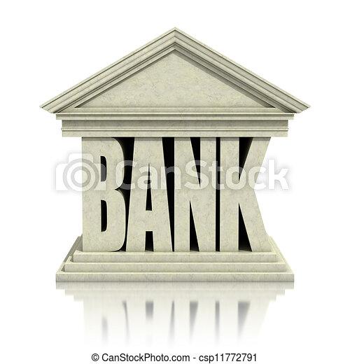 3d, bank, ikona - csp11772791
