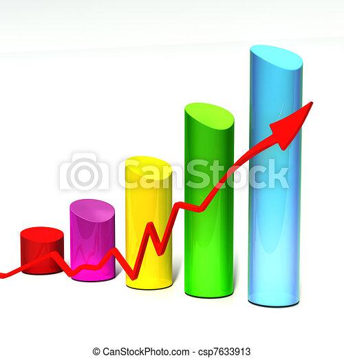 3D bar chart - csp7633913
