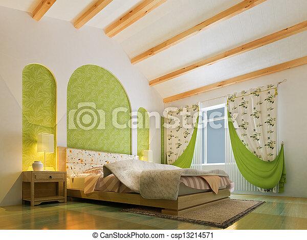 3d bedroom rendering - csp13214571