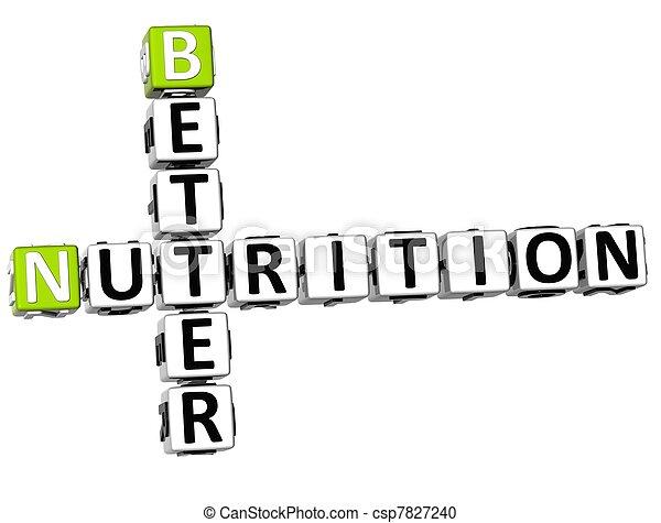 3D Better Nutrition Crossword - csp7827240