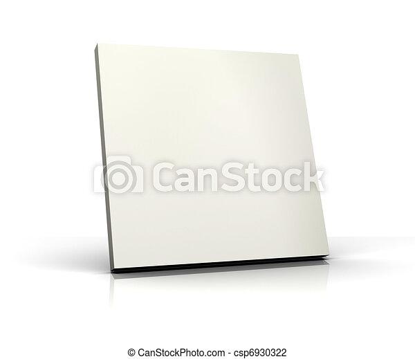 3d, bianco, vuoto, isolato, asse - csp6930322