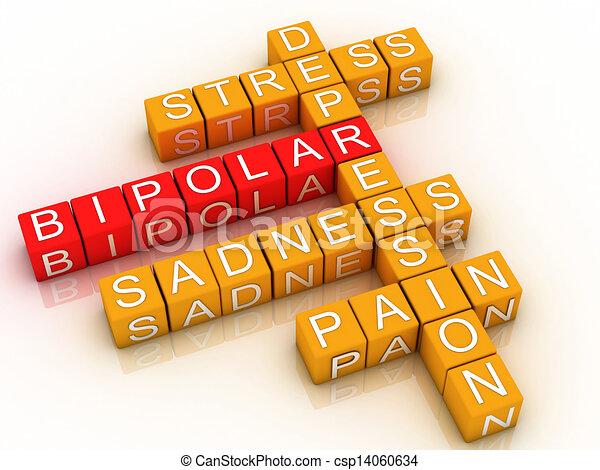 3d Bipolar disorder background  - csp14060634