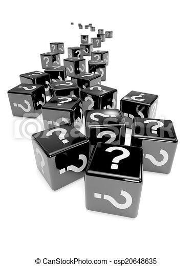 3d Black mystery dice - csp20648635