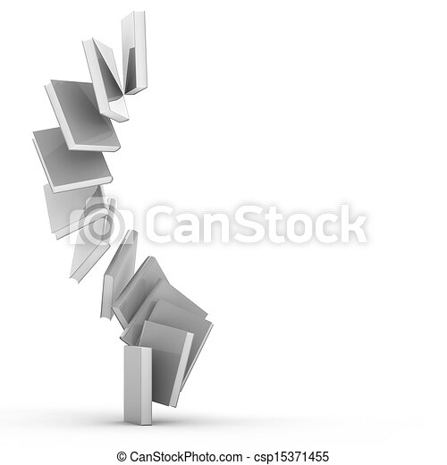 3d Blank book cover over white background - csp15371455