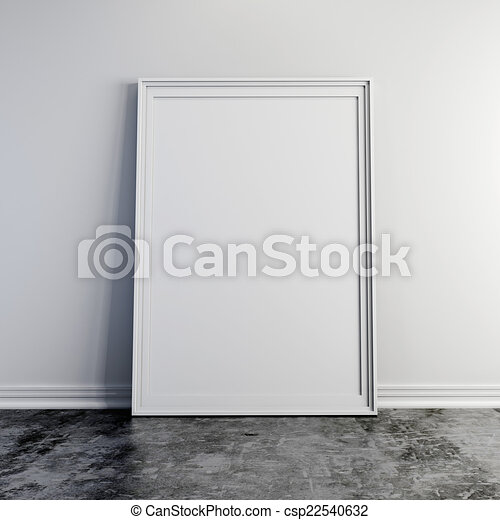 cd56b5f078b ... Stock Illustration. 3d blank frame on white vintage brick wall -  csp22540632