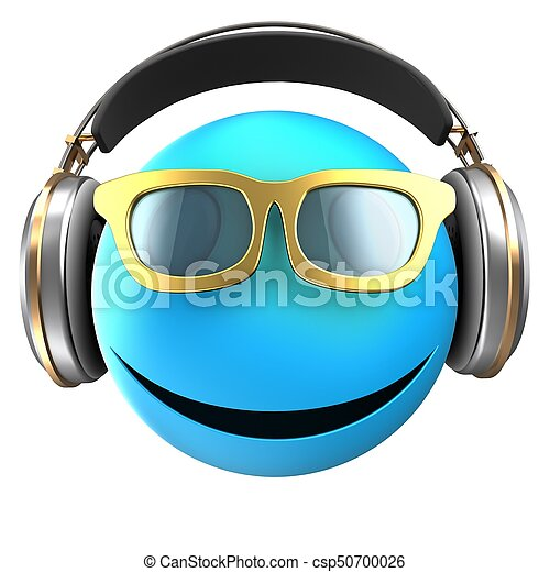 3d blue emoticon smile - csp50700026