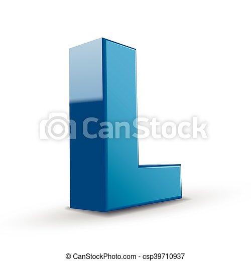 3d blue letter l 3d image blue letter l isolated on white background https www canstockphoto com 3d blue letter l 39710937 html