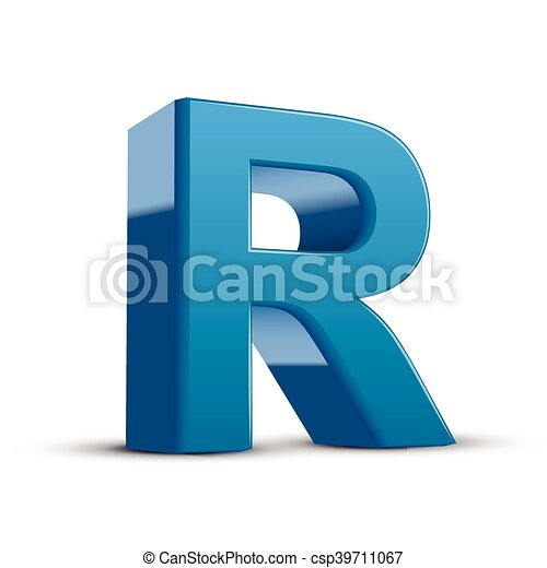 3d blue letter r 3d image blue letter r isolated on white background 3d blue letter r csp39711067 thecheapjerseys Image collections