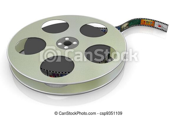 3d, bobina, film, 16mm - csp9351109