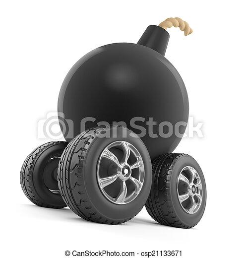 3d Bomb on wheels - csp21133671