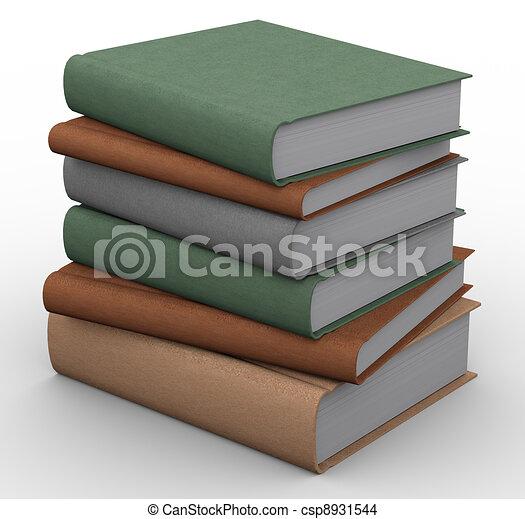 3d books - csp8931544
