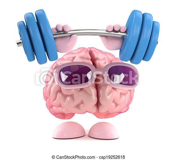 3d Brain strength - csp19252618