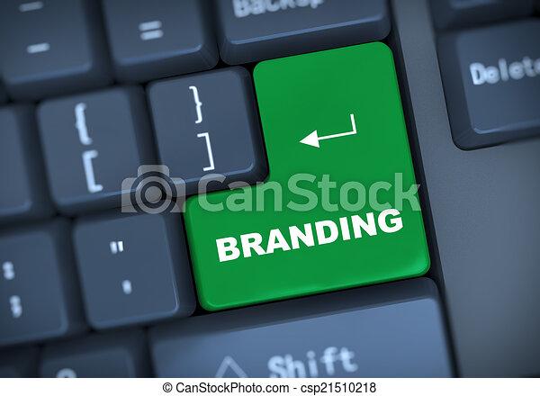 3d branding keyboard concept - csp21510218
