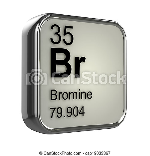 3d Bromine element - csp19033367