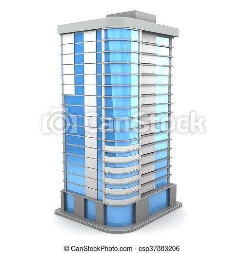 3d building - csp37883206