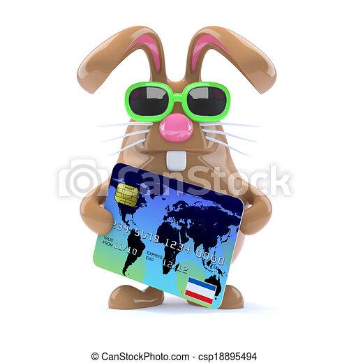 3d Bunny checkout - csp18895494