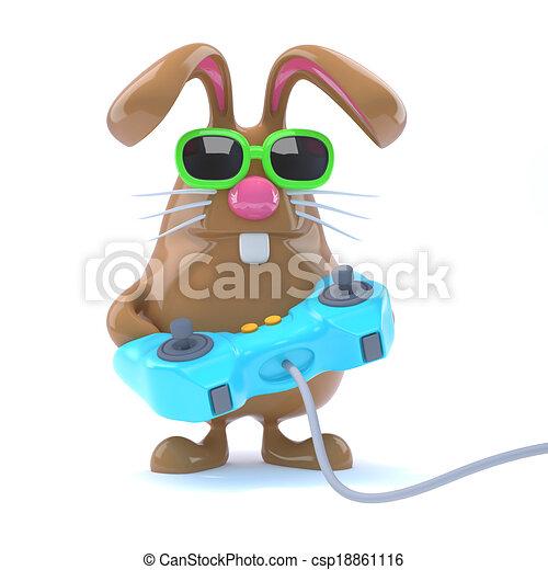 3d Bunny gamer - csp18861116