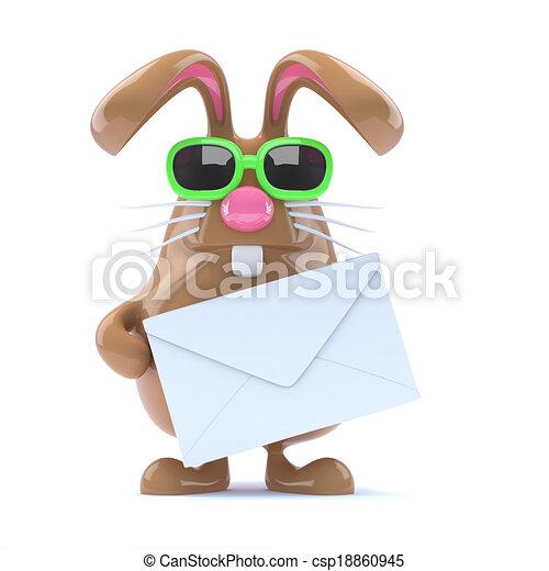 3d Bunny letter - csp18860945
