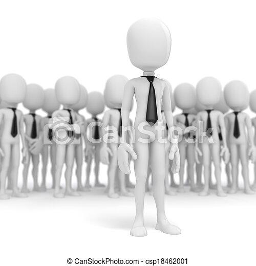 3d business man leader - csp18462001