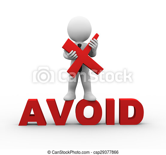 3d businessman holding cross wrong sign symbol