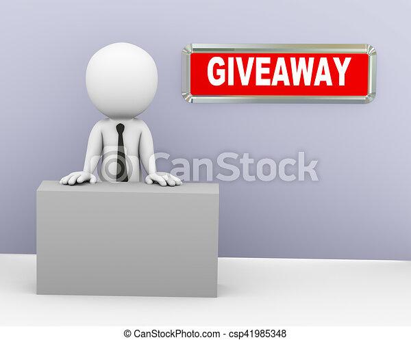 3d businessman promotional giveaway offer