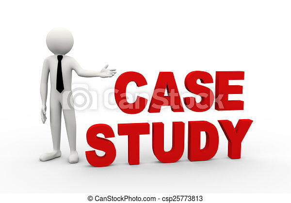 3d businessman with word case study. 3d rendering of... clipart ...
