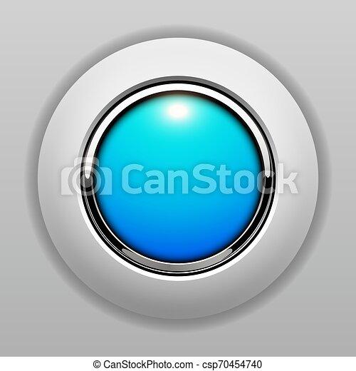3D button blue - csp70454740