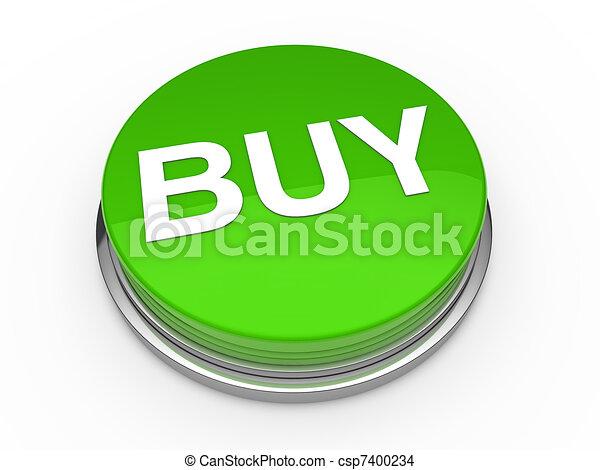 3d button buy green - csp7400234