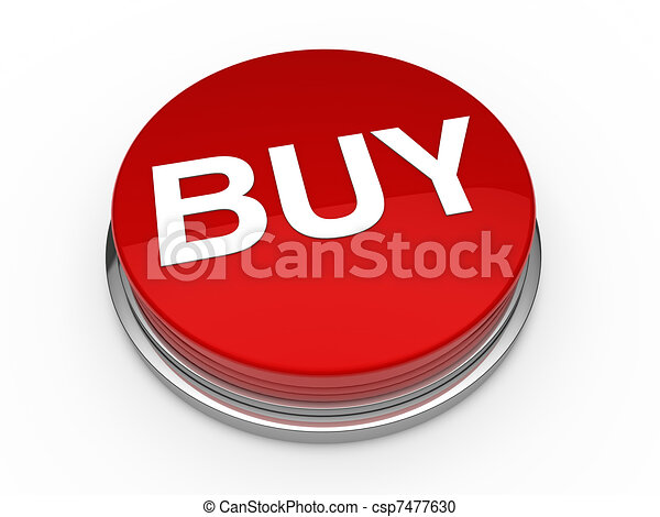 3d button buy red  - csp7477630