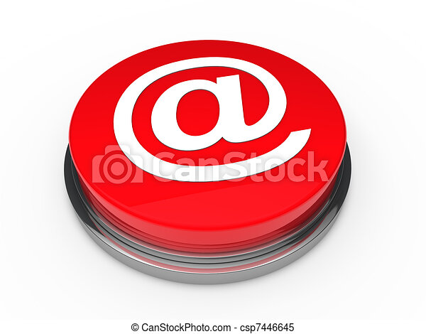 3d button email red  - csp7446645
