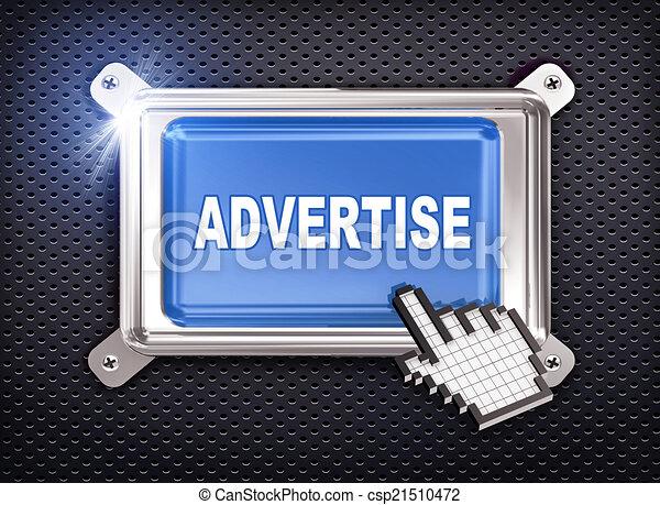 3d button hand cursor - advertise  - csp21510472