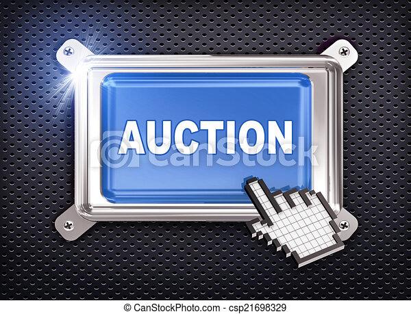 3d button hand cursor - auction - csp21698329