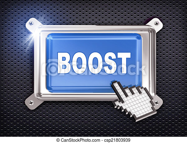 3d button hand cursor - boost - csp21803939