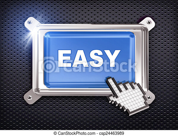 3d button hand cursor - easy - csp24463989