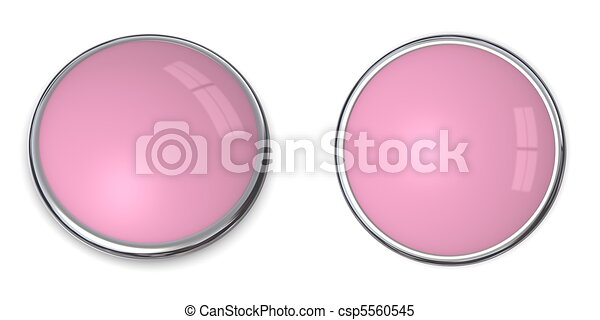 3D Button Solid Pink/Ros - csp5560545