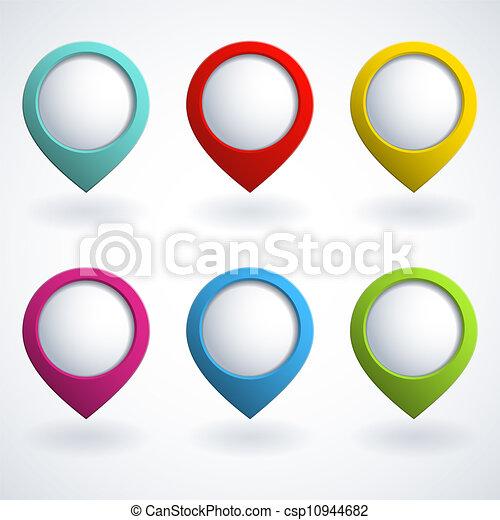 3d buttons - csp10944682