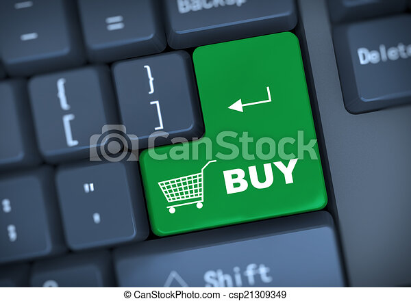 3d buy keyboard concept - csp21309349