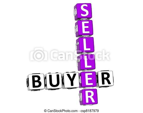 3D Buyer Seller Crossword - csp8187979