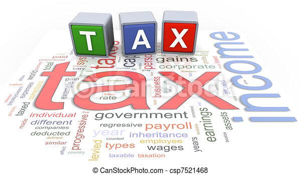 3d buzzword text tax - csp7521468