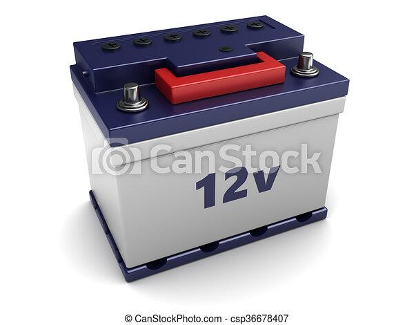 3d car battery - csp36678407