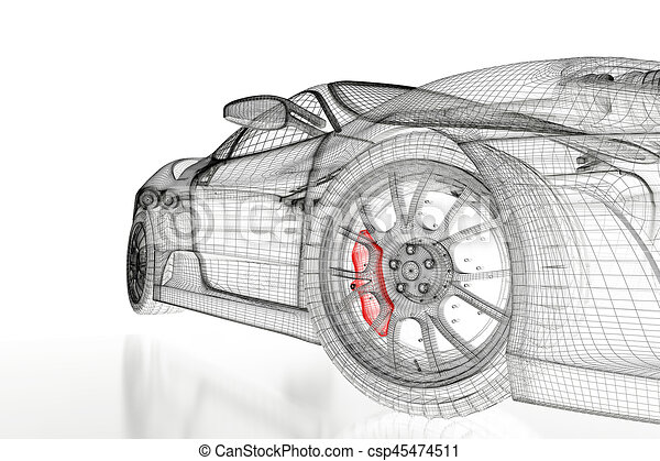 3d car mesh on a white car vehicle 3d blueprint mesh model 3d car mesh on a white csp45474511 malvernweather Image collections