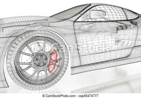 3d car mesh on a white car vehicle 3d blueprint mesh model stock 3d car mesh on a white csp45474777 malvernweather Image collections